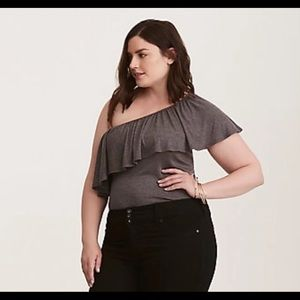 New - Torrid ruffle shirt plus size 2 off shoulder